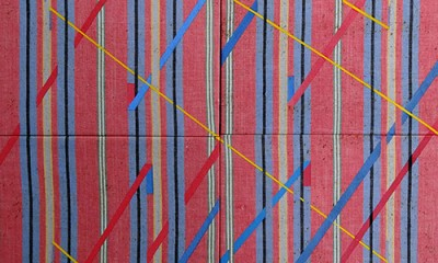 Composition with Red, Yellow and Blue lines